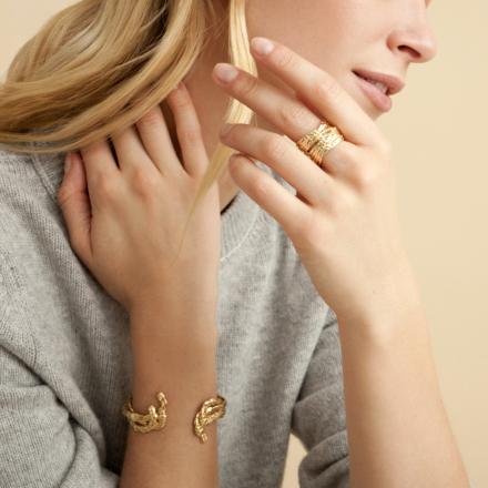 Liane cuff ring gold