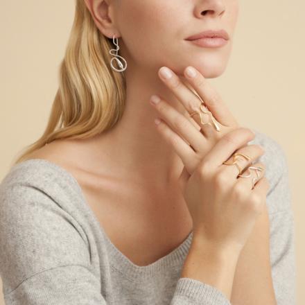 Alya Serti earrings solid silver