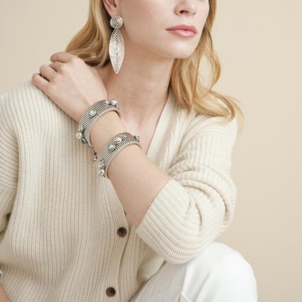 Longwave earrings small size silver