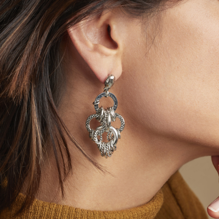 Maranza earrings small size silver