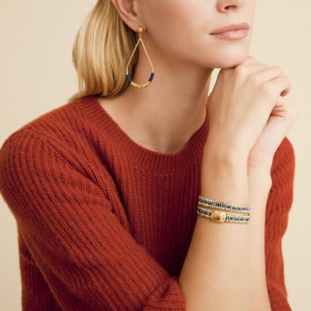 Zizanie earrings small size gold