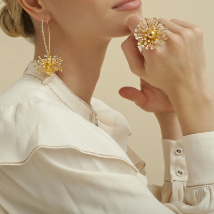 Icone Strass earrings gold