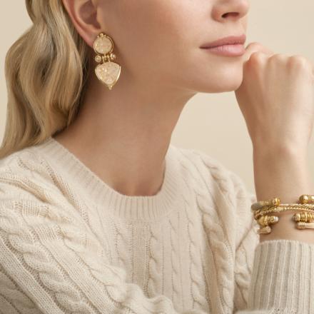 Colorado enamel earrings gold - Exclusive piece (4 pieces)