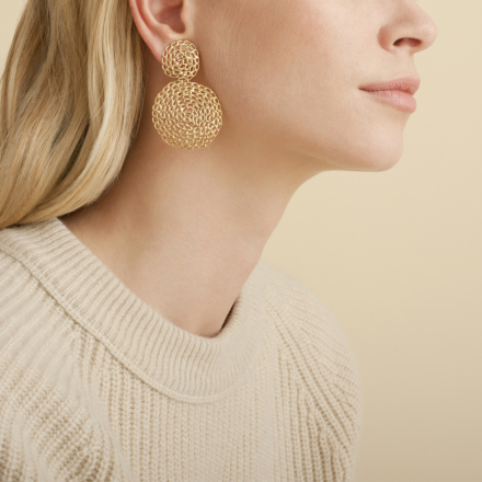 Onde Gourmette earrings small size gold