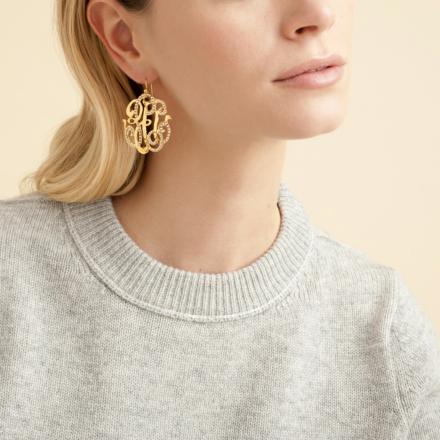 Arabesque earrings large size gold