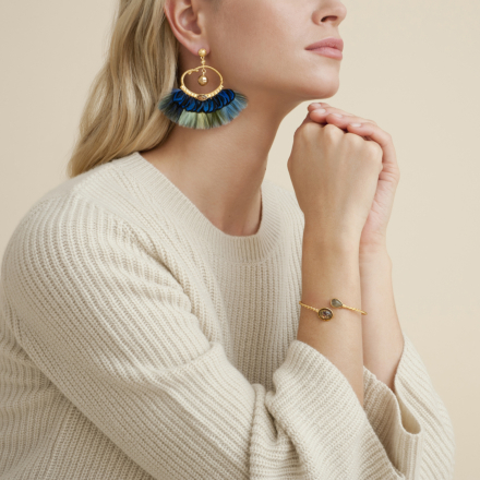 Bayos earrings gold