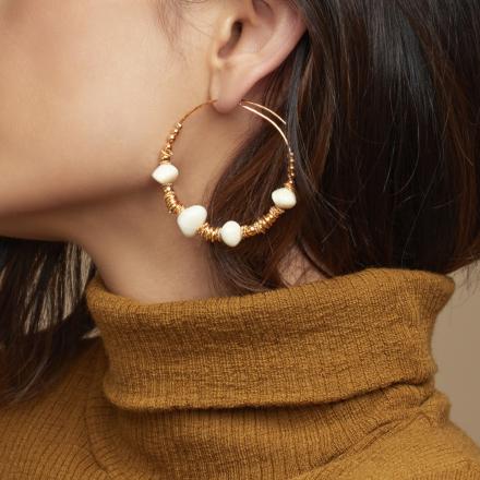 Biba hoop earrings small size acetate gold