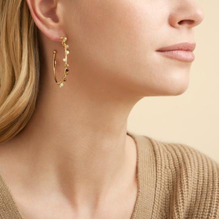 Calliope Serti hoop earrings gold