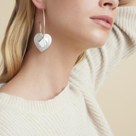 Celine Love hoop earrings silver