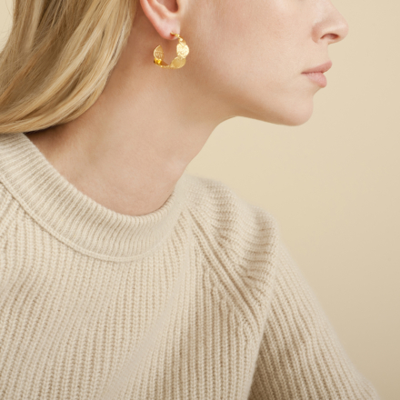 Cuore hoop earrings small size gold