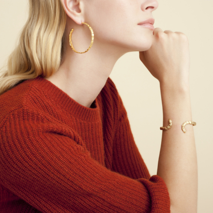 Liane hoop earrings gold