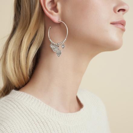Love hoop earrings mini silver