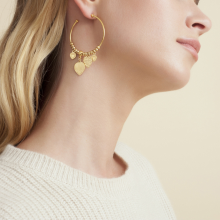 Love hoop earrings mini gold
