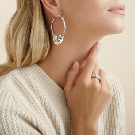 Maranzana hoop earrings silver
