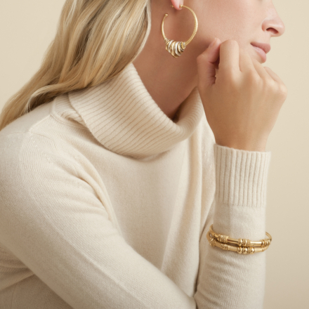 Maranzana hoop earrings bicolor
