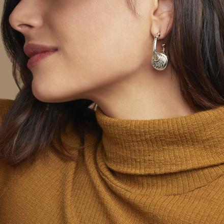 Maranzana hoop earrings small size silver