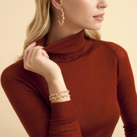 Orphee hoop earrings gold