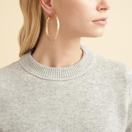 Tresse hoop earrings gold