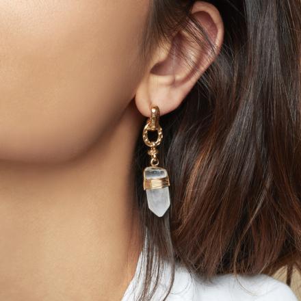 Aventura earrings gold - Lazulite