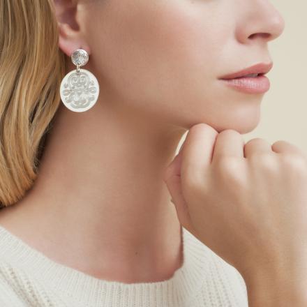 Diva earrings small size silver