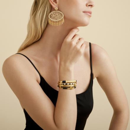 Fanfan raffia earrings gold