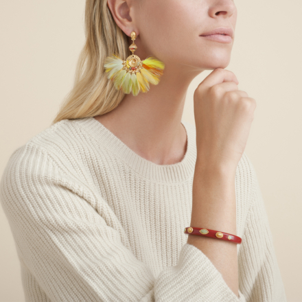 Serti Gaia earrings gold - Exclusive piece (3 pieces)