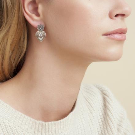 Love earrings mini silver