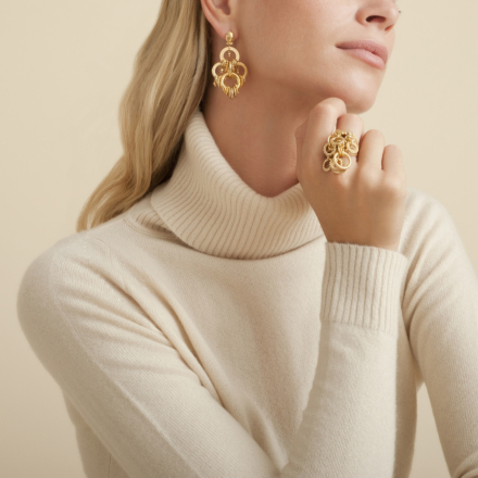 Maranza earrings small size bicolor