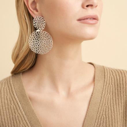 Onde Gourmette earrings silver