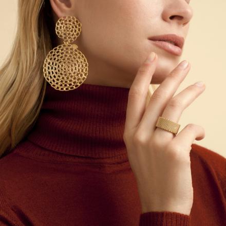 Onde Gourmette earrings gold