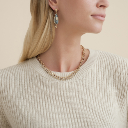 Serti Goutte earrings small size gold
