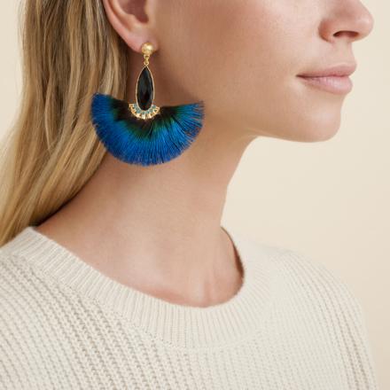 Serti Paon earrings gold