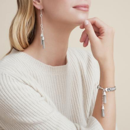 Tresse earrings silver