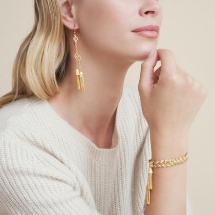 Tresse earrings gold