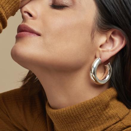 Turner hoop earrings silver