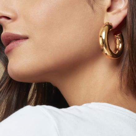 Turner hoop earrings gold