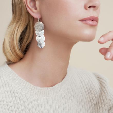 Very Diva quadruple earrings small size silver