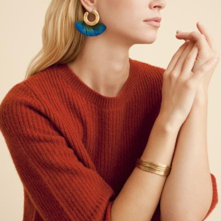Arpa cabochons bracelet gold