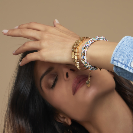 Bonheur Chain bracelet large size gold