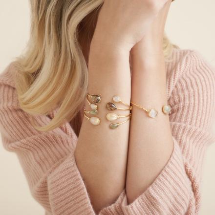 Duality Honoré bracelet large size gold