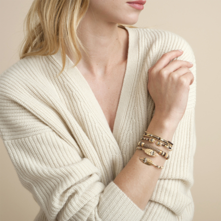 Duality small Scaramouche bracelet gold