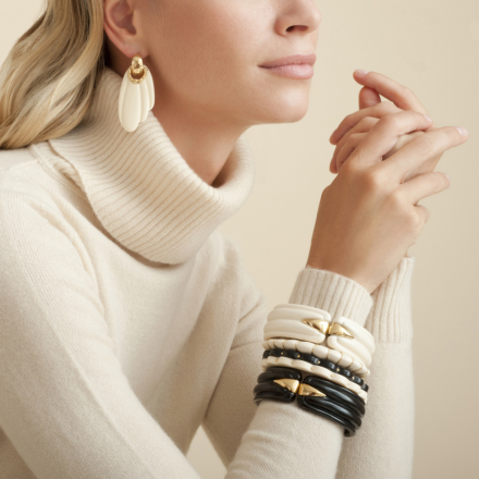 Ecume bracelet gold - Ivory