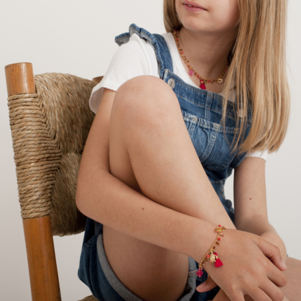 Gipsy charms kids bracelet gold
