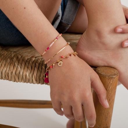 Gipsy charms kids bracelet mini gold