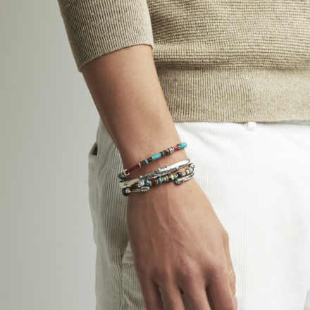 Harold men bracelet silver