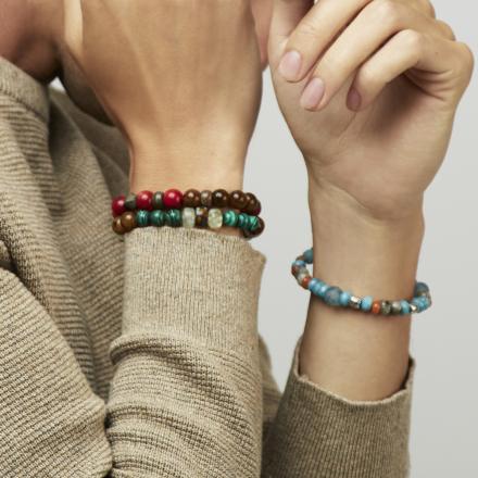 Léon men bracelet large size silver