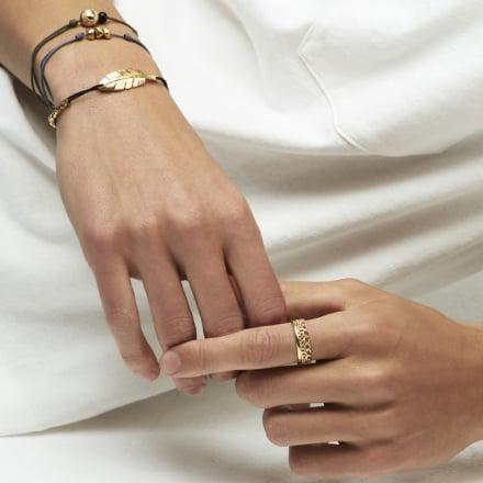 Cailloux men bracelet gold