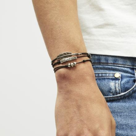 Papa men bracelet silver