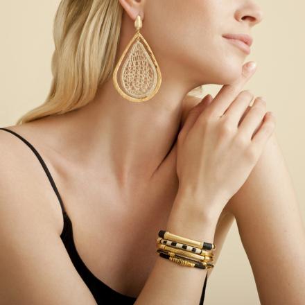 Macao raffia bracelet gold