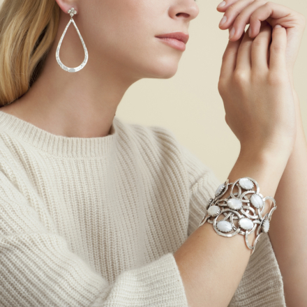 Olympie mother-of-pearl bracelet silver